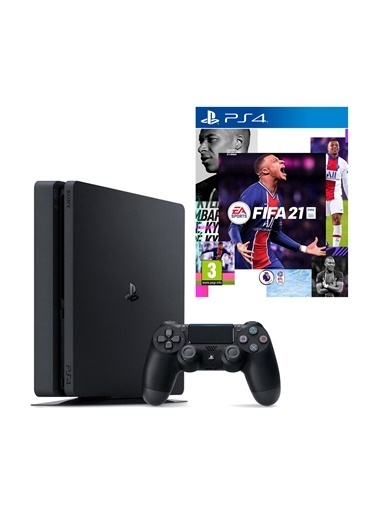 Sony Sony PS4 Slim 500 GB Oyun Konsolu + PS4 FIFA 2021 Siyah